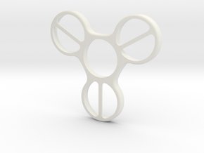 Undercover (Bottom Half) - Fidget Spinner in White Strong & Flexible