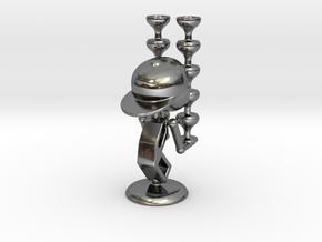"LaLa ""Balancing Wine Glass"" - DeskToys in Fine Detail Polished Silver"
