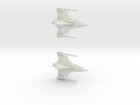 Draconian Hatchet Fighter 20mm in White Natural Versatile Plastic