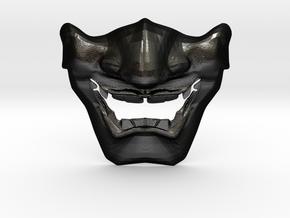 SamuraI Mask V1 Style  in Matte Black Steel