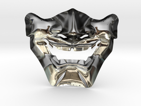Samurai Mask High Quality in Fine Detail Polished Silver