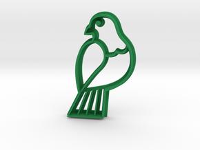 Wood pigeon Cookie Cutter in Green Processed Versatile Plastic