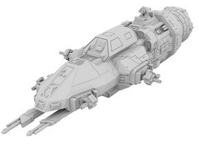 1:500 Rocinante - The Expanse [+ Guns] in White Natural Versatile Plastic