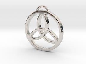 Elegant Triquetra by ~M. in Rhodium Plated Brass