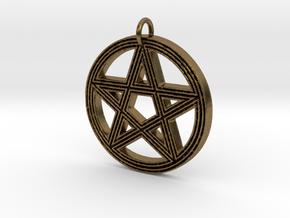 Grooved Pentacle by ~M. in Raw Bronze