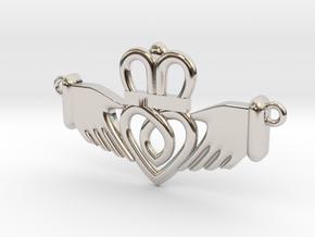 Claddagh Pendant in Platinum