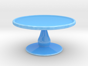 Cake Stand A in Gloss Blue Porcelain