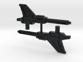 Brainstorm's Photon Pulse Cannons (pair), 5mm in Black Hi-Def Acrylate