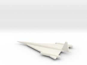 Northrop XSSM-A-5 Missile Final Design in White Natural Versatile Plastic