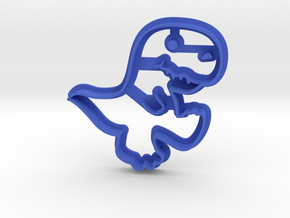 Dinosaur Cookie Cutter in Blue Strong & Flexible Polished