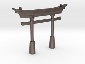 Torii Traditional- Pendant in Polished Bronzed Silver Steel