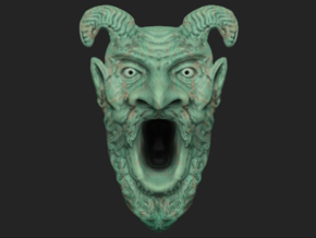 Tomb of Horrors Demon Face in Full Color Sandstone