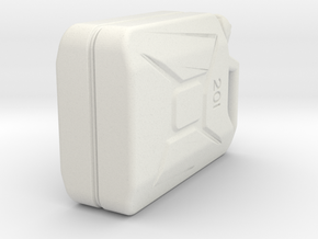 Jerry Can 20l in White Natural Versatile Plastic