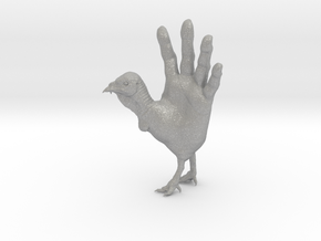 Hand Turkey in Raw Aluminum: Large