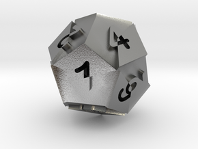 Optical Art D12 Dice in Raw Silver