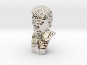 Donald Trump. Portrait bust in Rhodium Plated Brass