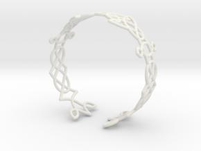Celtic knots Cuff 3  in White Natural Versatile Plastic: Extra Small