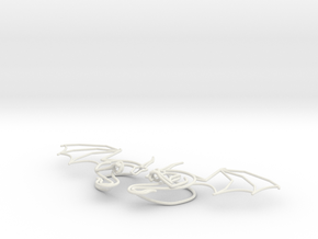 Dragon aircuffs in White Natural Versatile Plastic