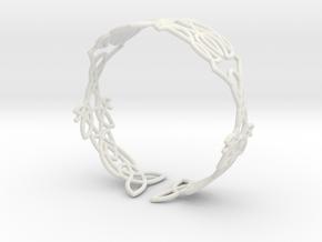 Celtic knots Cuff 5  in White Natural Versatile Plastic: Extra Small