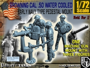 1-72 USN Cal 50 M2 WC & Crew Set in Frosted Ultra Detail