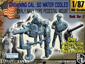 1-87 USN Cal 50 M2 WC & Crew Set in Frosted Ultra Detail