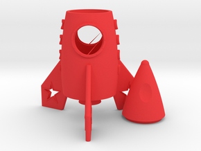 Rocket Toothstick Holder in Red Processed Versatile Plastic
