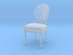 Louis XVI Side Chair in Smooth Fine Detail Plastic: 1:48