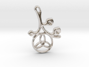 Earthly Spring Triquetra by ~M. in Rhodium Plated Brass