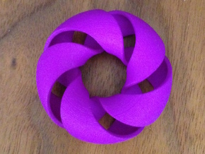 Cinquefoil Torus in Purple Strong & Flexible Polished
