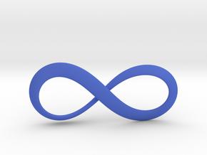 Moebius Infinity Symbol in Blue Processed Versatile Plastic