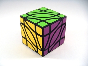 4 Corners Cube Puzzle in White Natural Versatile Plastic
