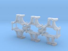 HO Scale CPR short switch stands in Smoothest Fine Detail Plastic
