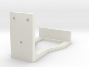 Wall Mounted Controller Holder in White Natural Versatile Plastic