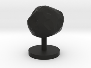 Game Piece, Asteroid, Single in Black Natural Versatile Plastic