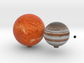 Proxima Centauri system & Jupiter to scale. in Full Color Sandstone