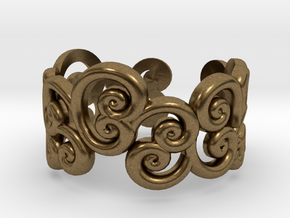 Ring Scroll in Natural Bronze