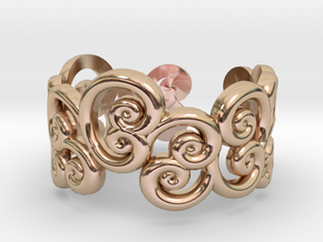 Ring Scroll in 14k Rose Gold Plated