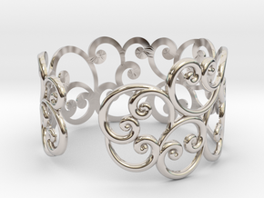 Bracelet Scroll in Platinum
