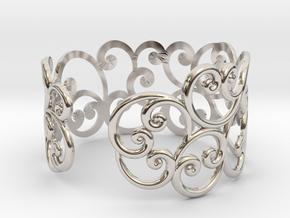 Bracelet Scroll in Platinum