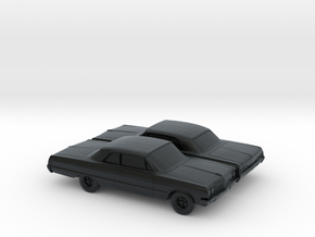 1/160 2X 1964 Chevrolet Impala Coupe in Black Hi-Def Acrylate