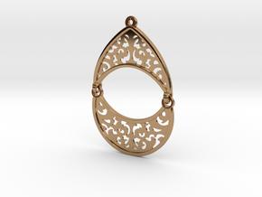 BlakOpal Filigree Teardrop Earring in Polished Brass (Interlocking Parts)