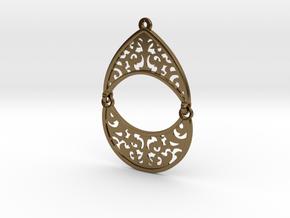 BlakOpal Filigree Teardrop Earring in Polished Bronze (Interlocking Parts)