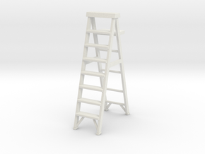 Stepladder 02. 1:22 Scale in White Natural Versatile Plastic