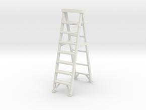 Stepladder 02. 1:22 Scale in White Natural Versatile Plastic