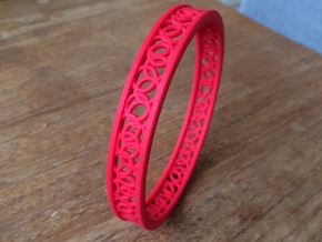 ArmbandRondSmall in Red Processed Versatile Plastic
