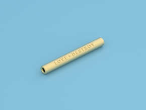 One Hitter With Logo - Large in Polished Gold Steel