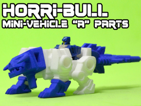 "Horri-Bull Minivehicle, ""A"" Parts in Blue Strong & Flexible Polished"