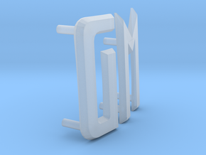 Futurliner GM letters in Smooth Fine Detail Plastic
