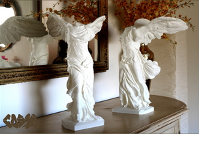 "Winged Victory (20"" tall) in White Natural Versatile Plastic"