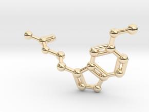 Melatonin Molecule Keychain in 14K Yellow Gold